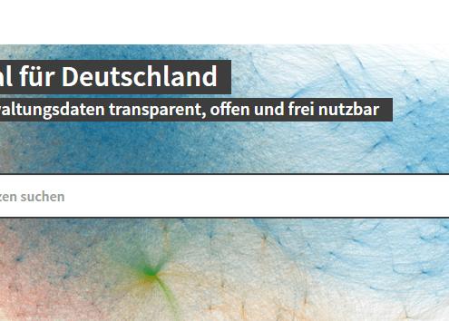 Screenshot von govdata.de