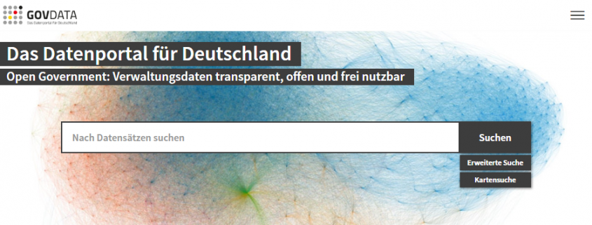 Screenshot von govdata.de