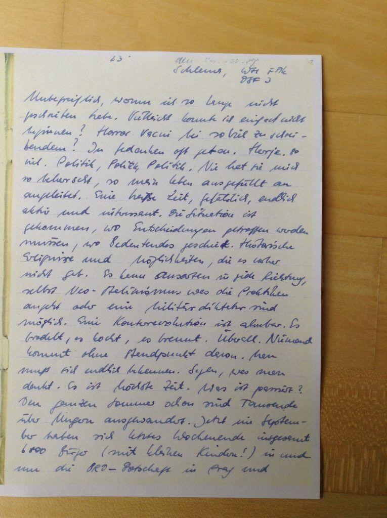 Mein Tagebuch, 04.10.1989