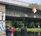 Bild zeigt Havelbrücke mit Vertreter vom WSA und er Stadt Hennigsdorf, in der Mitte Anke Domscheit-Berg