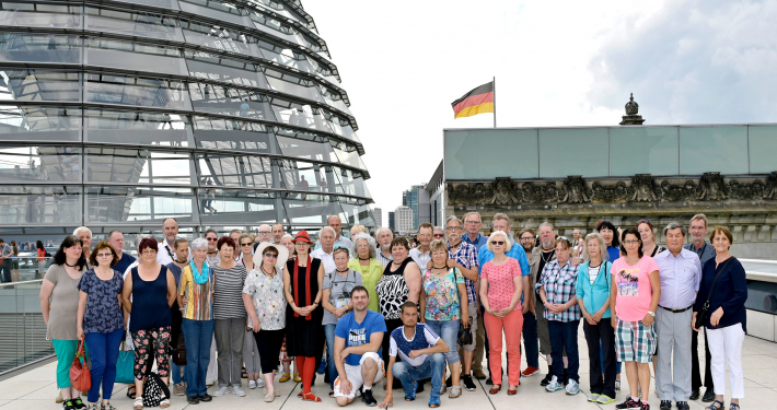 Bild zeigt Besuchergruppe des Arbeitslosenservice Oranienburg und Zehdenick